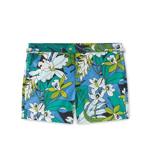 TROPICAL PRINT SWIM SHORT
