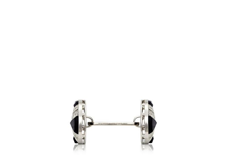 Onyx and Diamond Cross Cufflinks B fullsize
