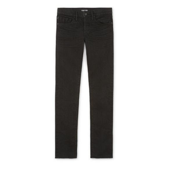 SLIM FIT BLACK JEANS A fullsize