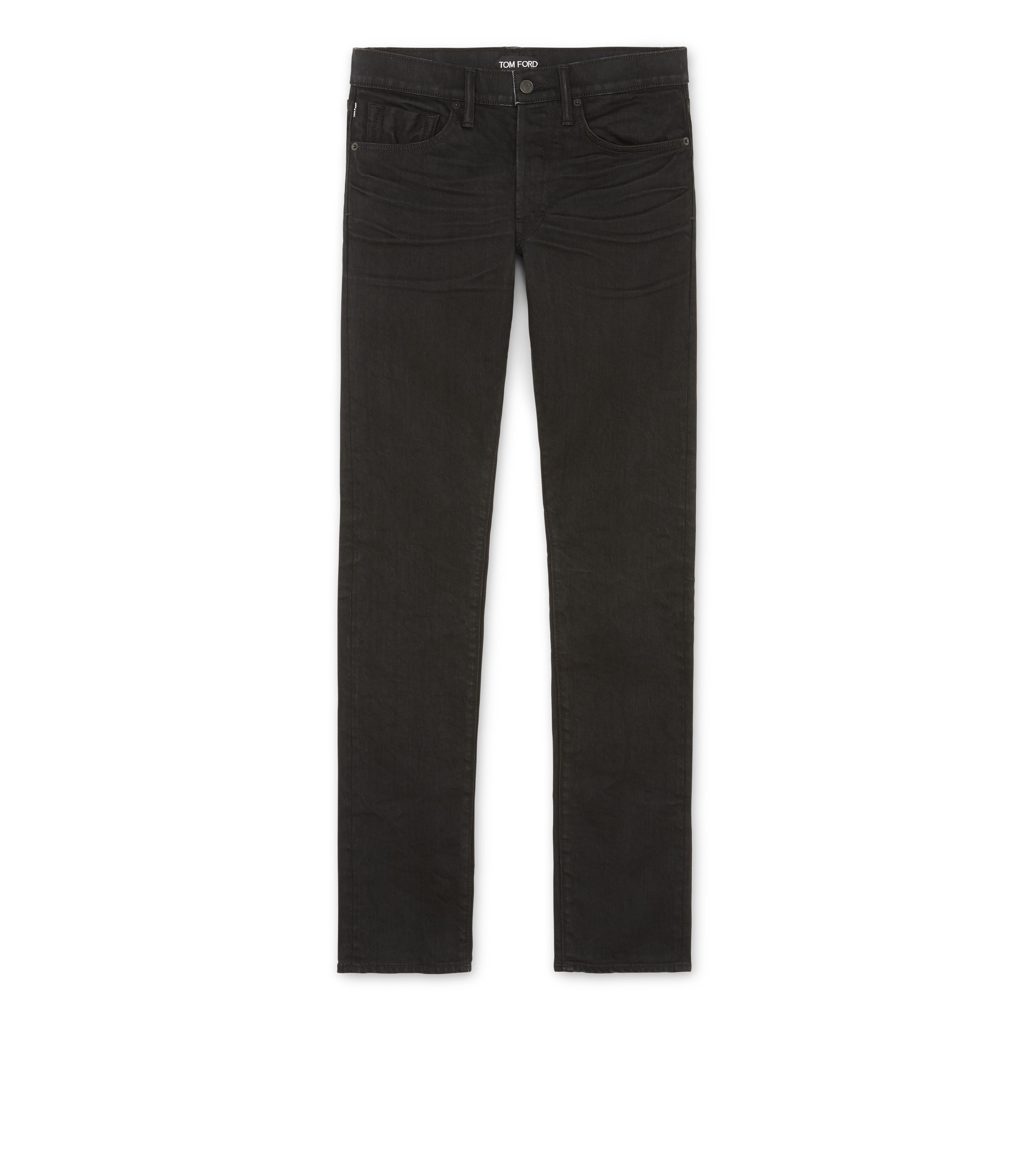 SLIM FIT BLACK JEANS A thumbnail