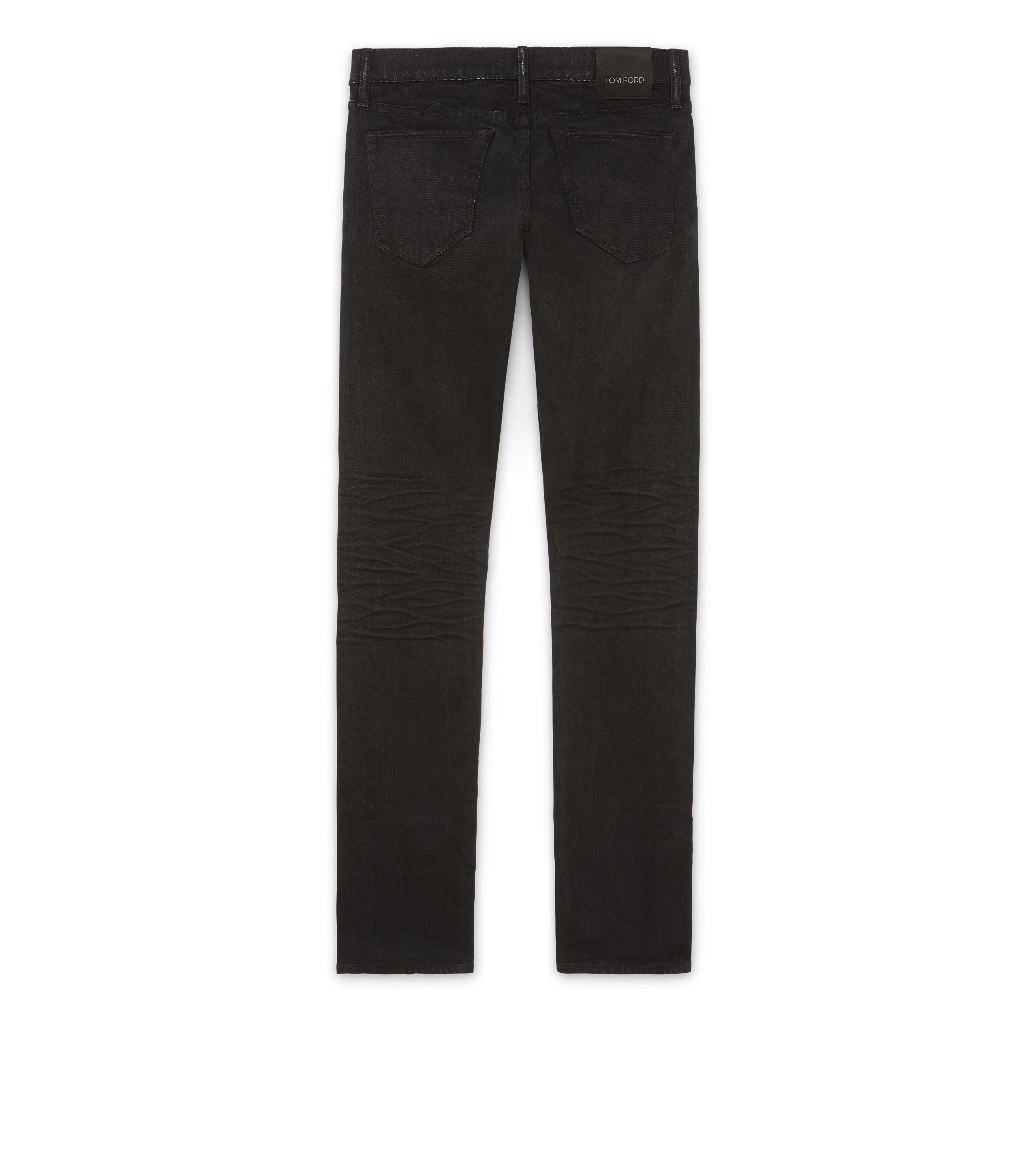SLIM FIT BLACK JEANS B thumbnail