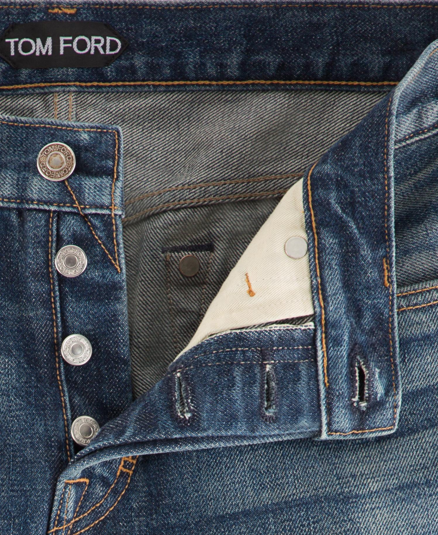 30 U.S Pants New TOM FORD Slim Beige Jeans TFD001 Size 46