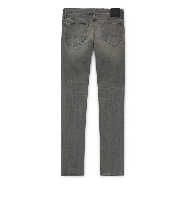 GREY WASHED SELVAGE DENIM SLIM B fullsize
