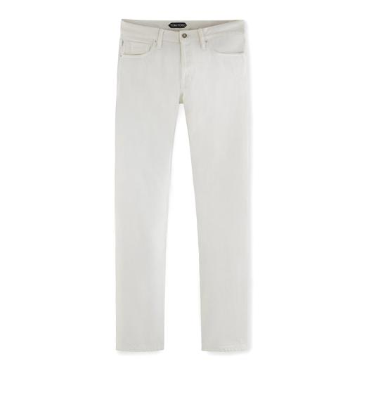 SLIM OFF WHITE SELVAGE JEANS