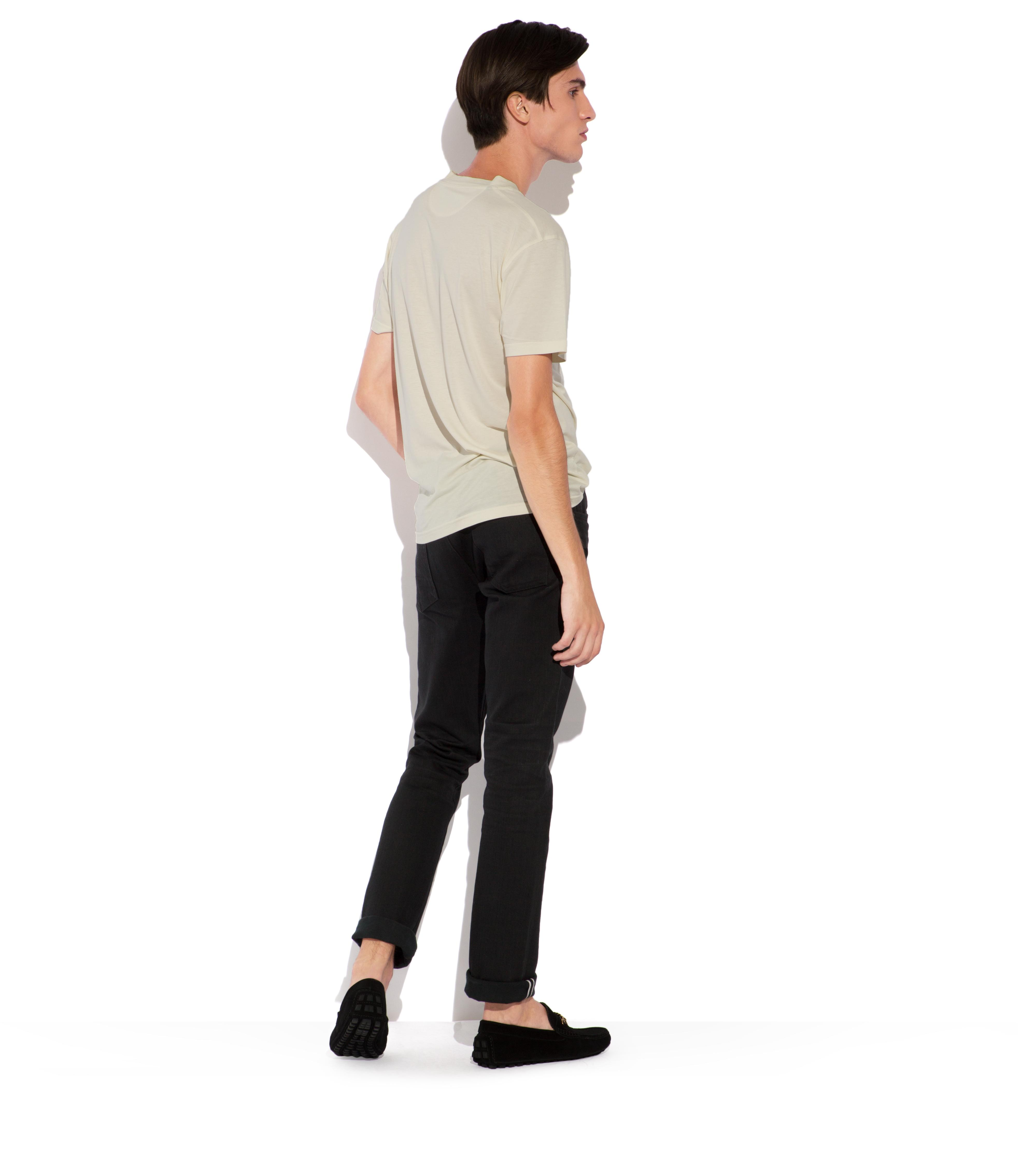 SLIM BLACK SELVAGE JEANS C thumbnail