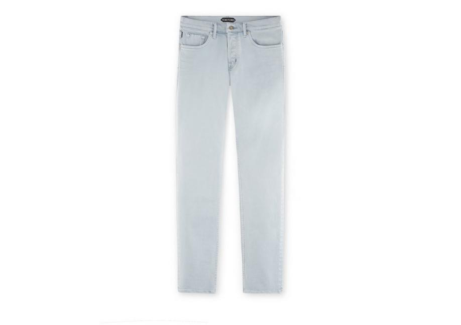 SLIM COTTON SATEEN JEANS A fullsize