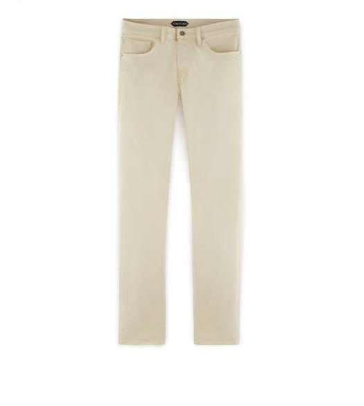 SLIM COTTON SATEEN JEANS