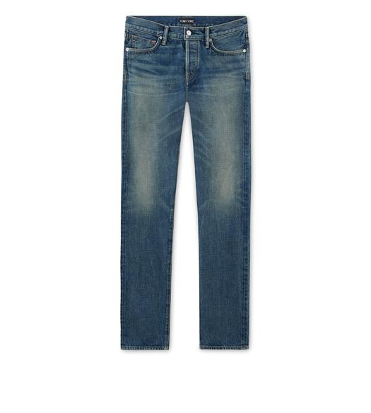 SLIM ANTIQUE WASH SELVAGE JEANS