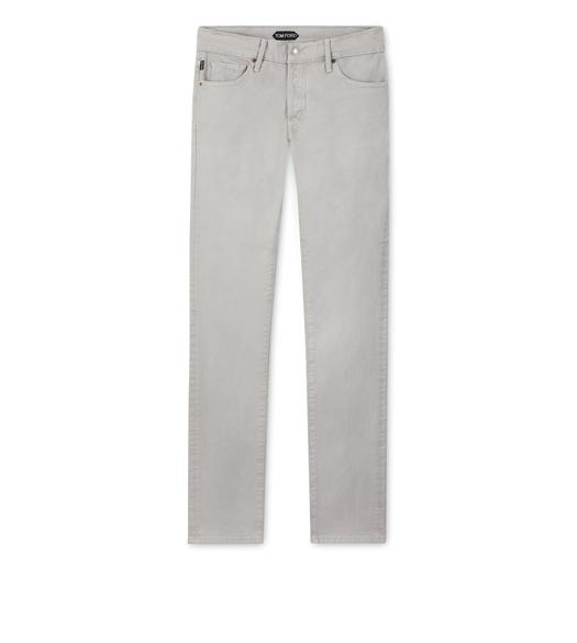 SLIM FIT STRETCH COTTON TWILL PANT