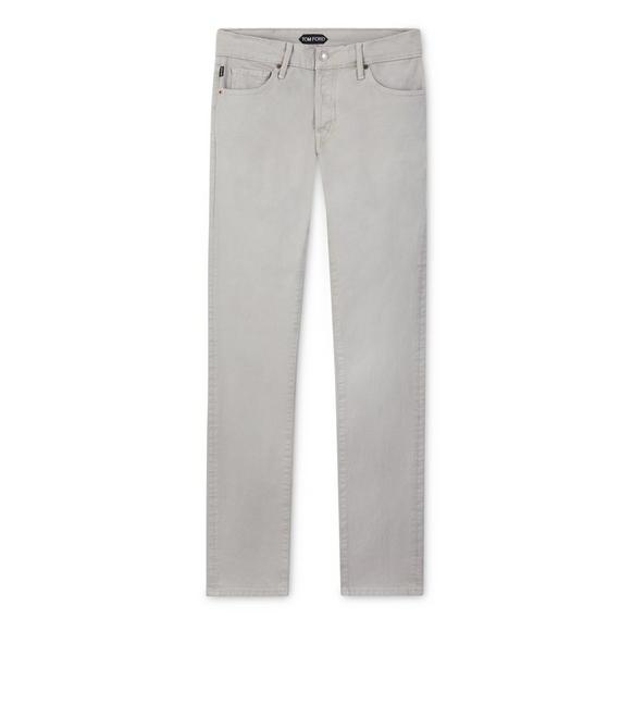 SLIM FIT STRETCH COTTON TWILL PANT A fullsize