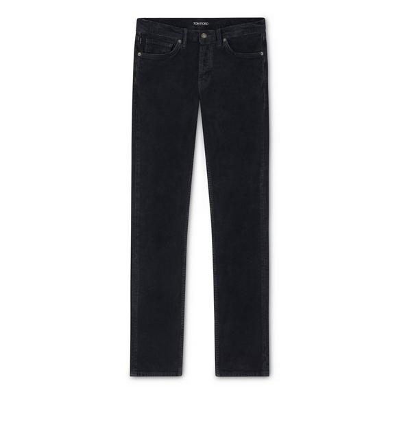 SLIM WASHED CORDUROY JEANS A fullsize