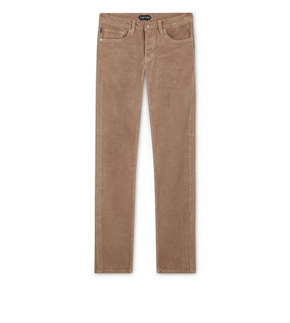 SLIM FIT STRETCH WASHED CORDUROY PANT A fullsize