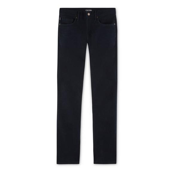 NAVY MOLESKIN STRETCH SLIM FIT DENIM A fullsize