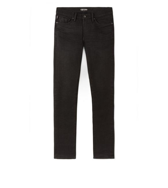 STRAIGHT FIT BLACK JEANS A fullsize