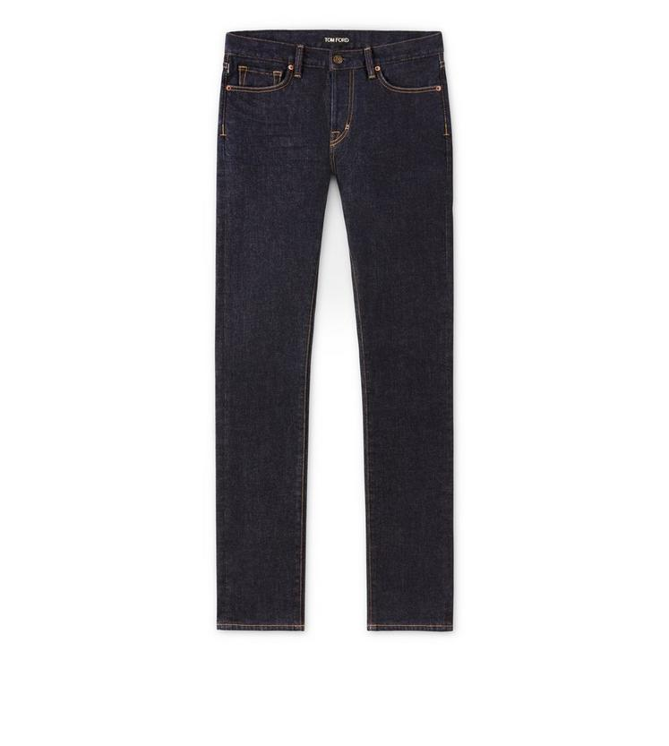 STRAIGHT FIT BLUE JEANS A fullsize