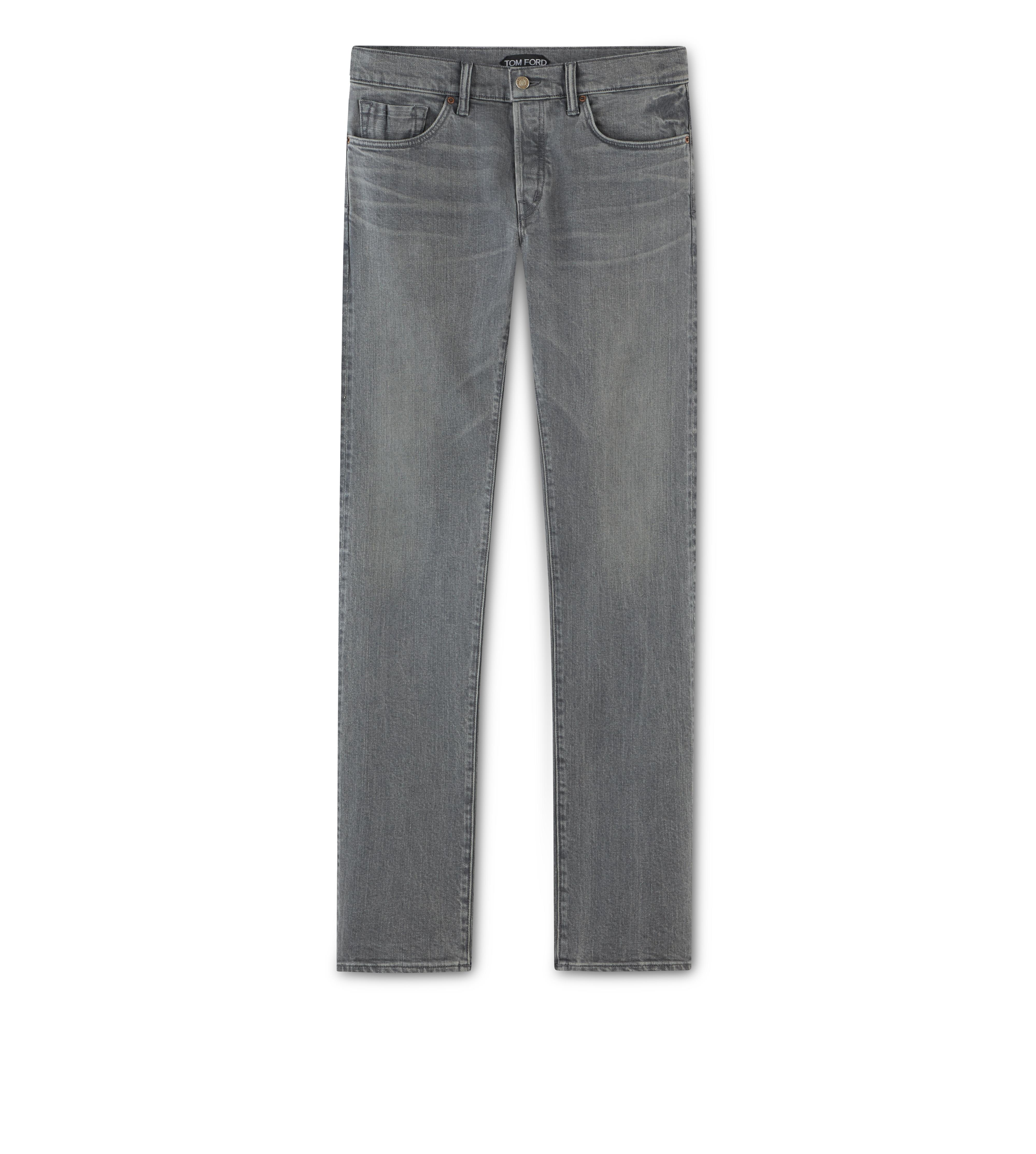 STRAIGHT GREY SELVAGE JEANS A thumbnail