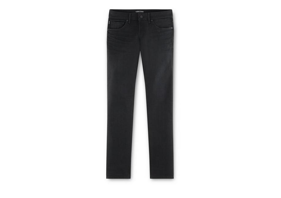 STRAIGHT BLACK SELVAGE JEANS A fullsize