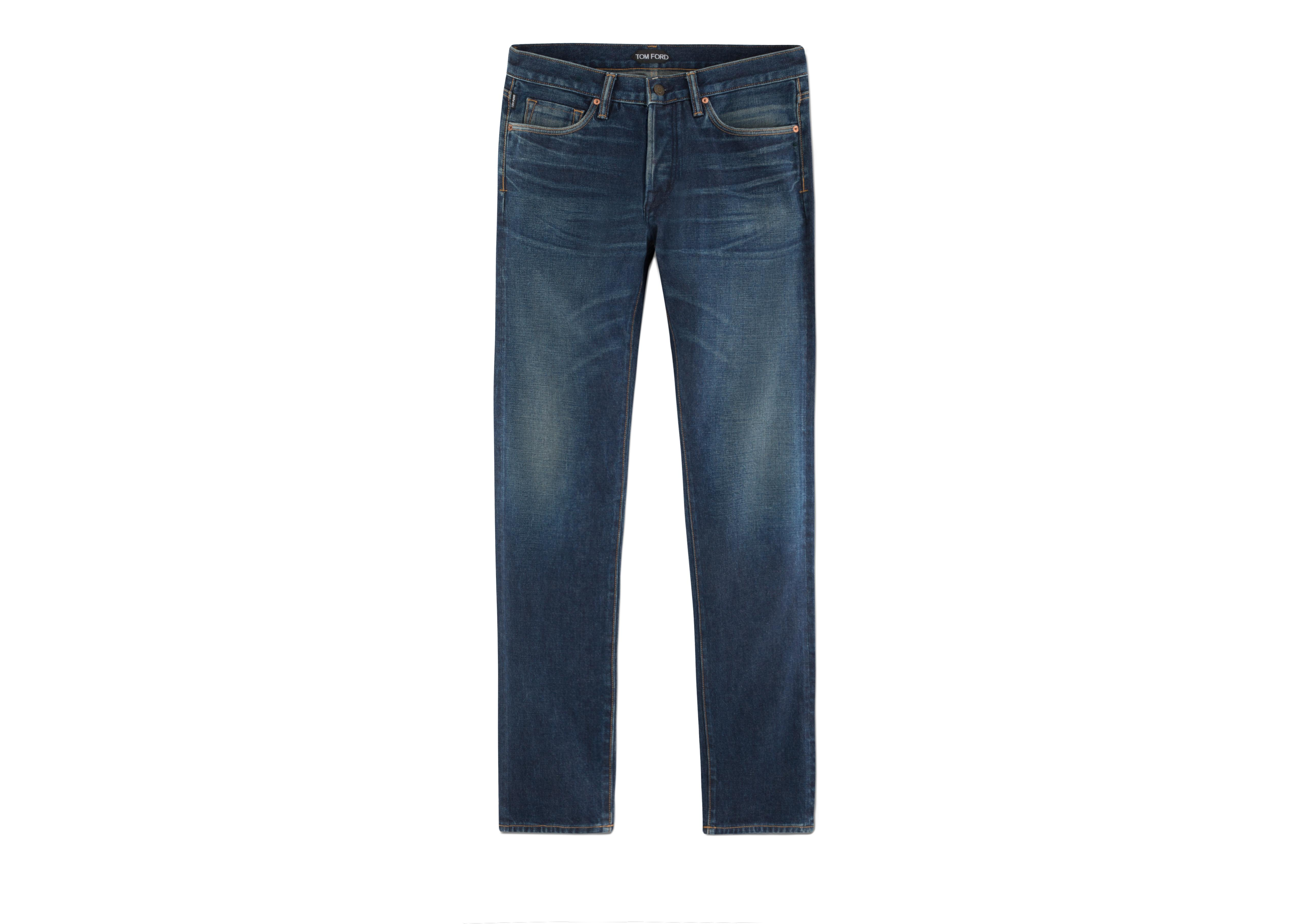 STRAIGHT VINTAGE SELVAGE JEANS A thumbnail