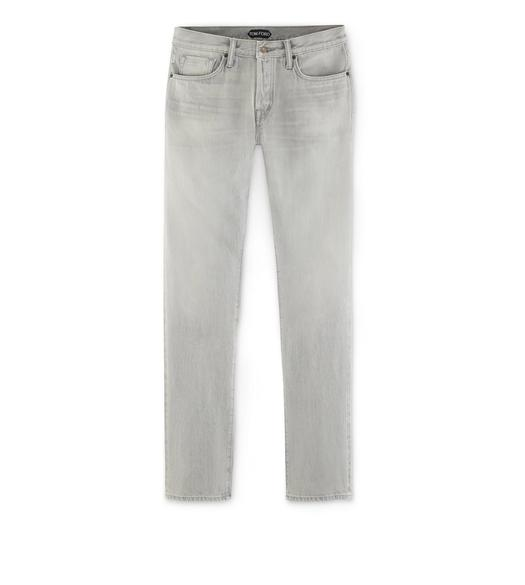 STRAIGHT PALE GREY SELVAGE JEANS