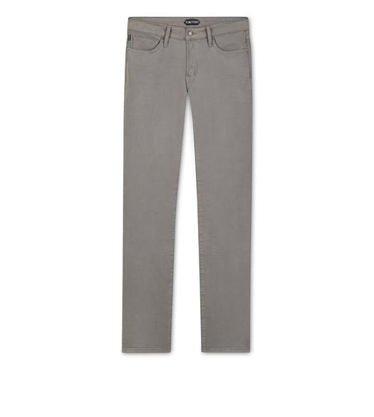 STRAIGHT FIT STRETCH COTTON TWILL PANT