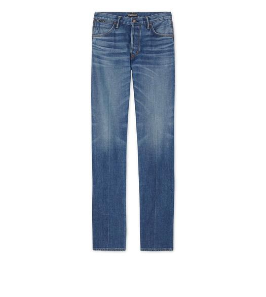 WIDE LEG JAPANESE SELVEDGE STRETCH DENIM