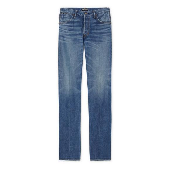 WIDE LEG JAPANESE SELVEDGE STRETCH DENIM A fullsize