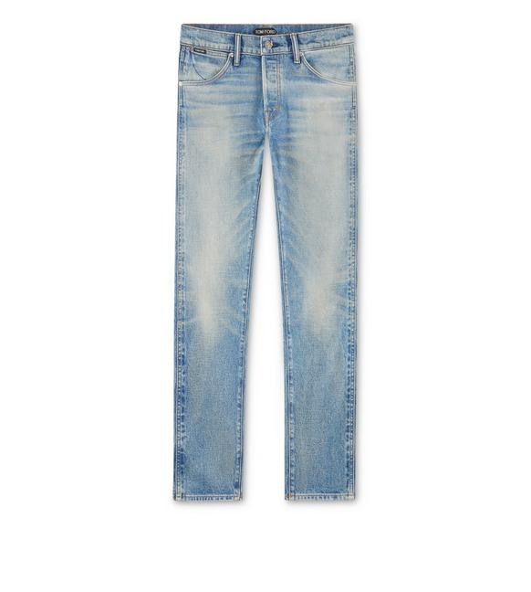 TAPERED FIT NON STRETCH SELVEDGE JEANS A fullsize