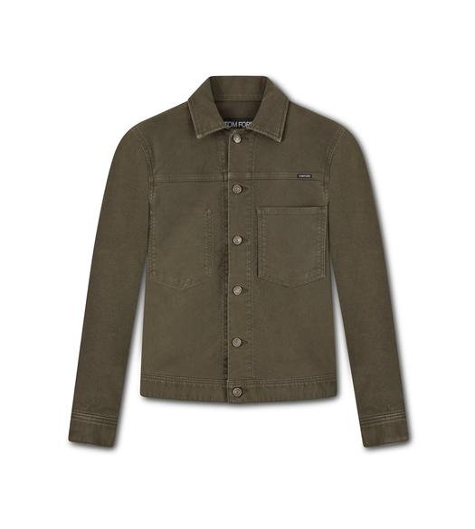BRUSHED COTTON WORKWEAR JACKET