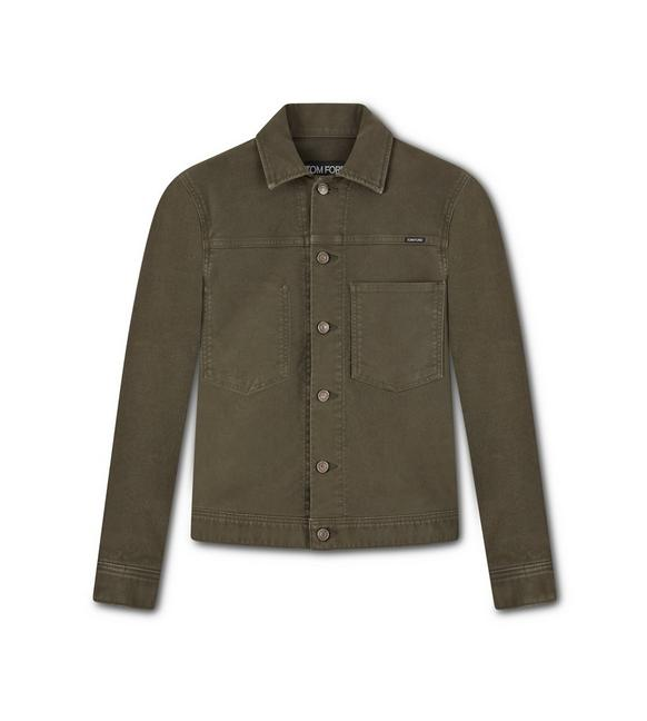 BRUSHED COTTON WORKWEAR JACKET A fullsize