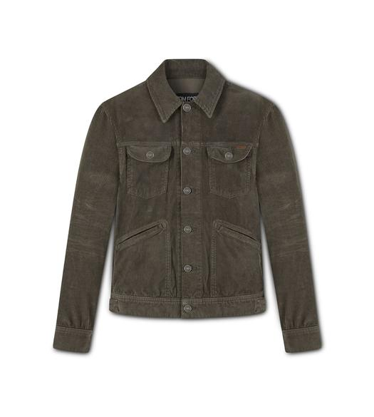 12 WAVES WASHED CORDUROY JACKET