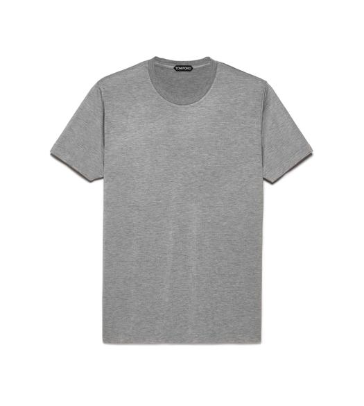 VISCOSE BLEND JERSEY CREW NECK T-SHIRT