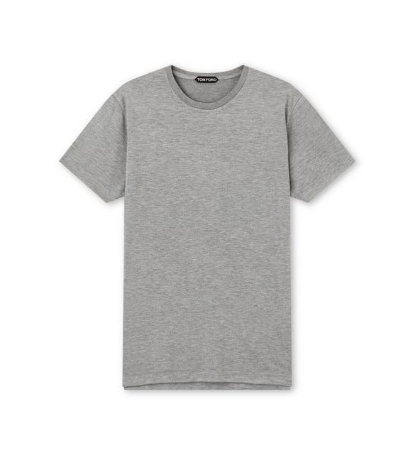 VISCOSE BLEND JERSEY CREW NECK T-SHIRT A fullsize