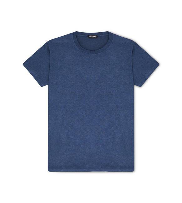 VISCOSE BLEND CREW NECK T-SHIRT A fullsize