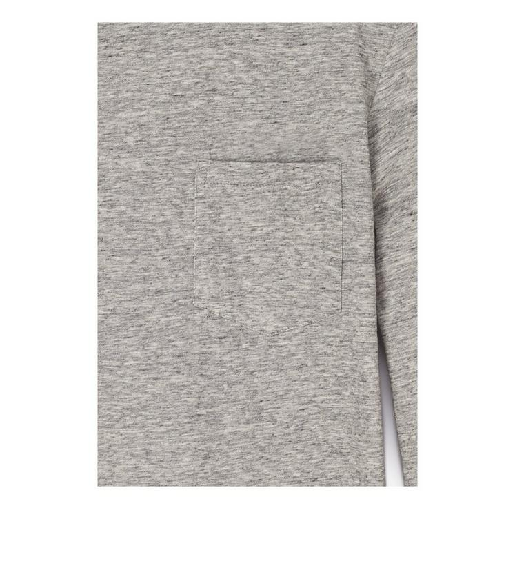 COTTON CASHMERE LIGHTWEIGHT MARL JERSEY LONG-SLEEVED T-SHIRT C fullsize