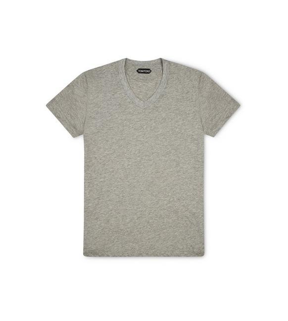 MARL JERSEY V-NECK T-SHIRT A fullsize