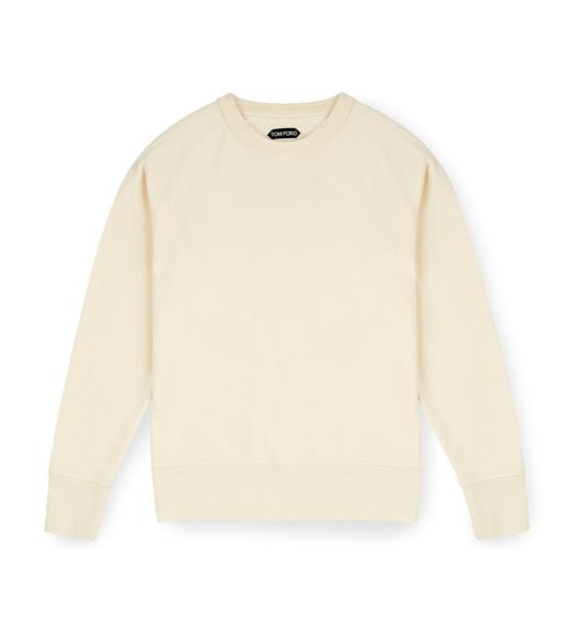 GARMENT DYED COTTON CREWNECK