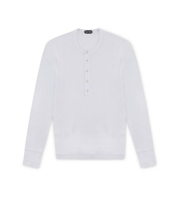 COTTON RIBBED HENLEY A fullsize