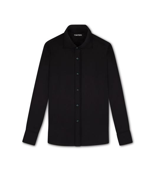JERSEY COTTON BLEND TAILORED SHIRT