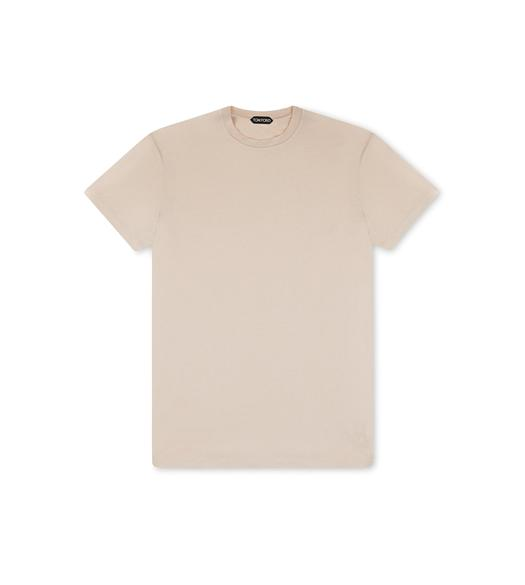 VISCOSE COTTON JERSEY CREWNECK T-SHIRT