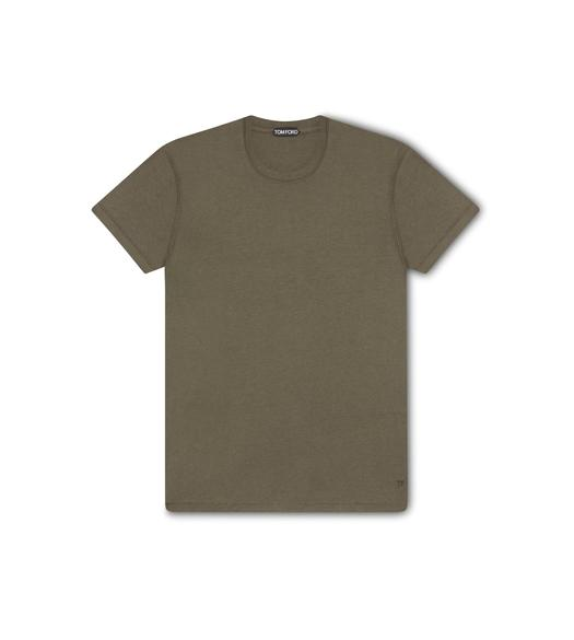 VISCOSE COTTON CREW NECK T-SHIRT