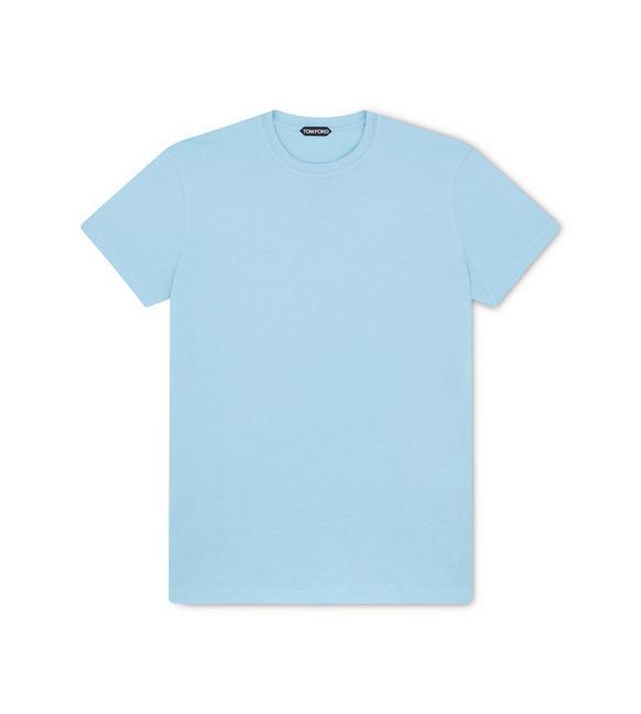 VISCOSE COTTON CREW NECK T-SHIRT A fullsize