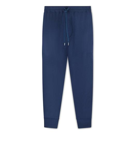 CASHMERE INTERLOCK SWEATPANTS