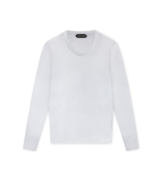 VISCOSE WOOL LONG SLEEVE T-SHIRT