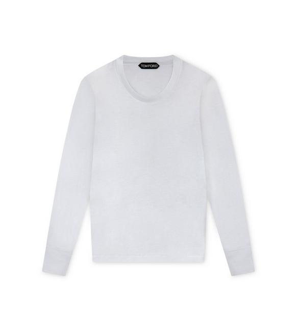 VISCOSE WOOL LONG SLEEVE T-SHIRT A fullsize