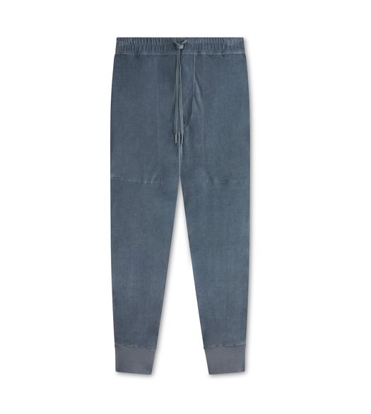 COTTON VELOUR SWEATPANTS