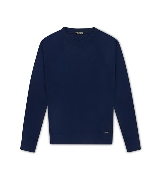 CASHMERE INTERLOCK CREW NECK