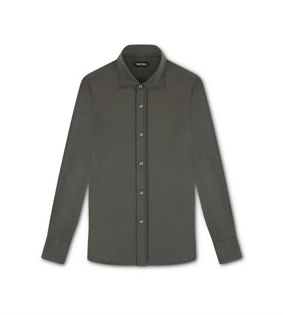 COTTON JERSEY TAILORED SHIRT A fullsize