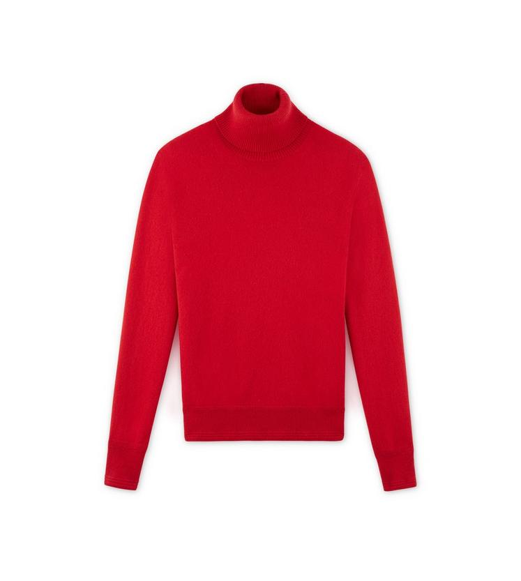 CLASSIC CASHMERE RED TURTLENECK A fullsize