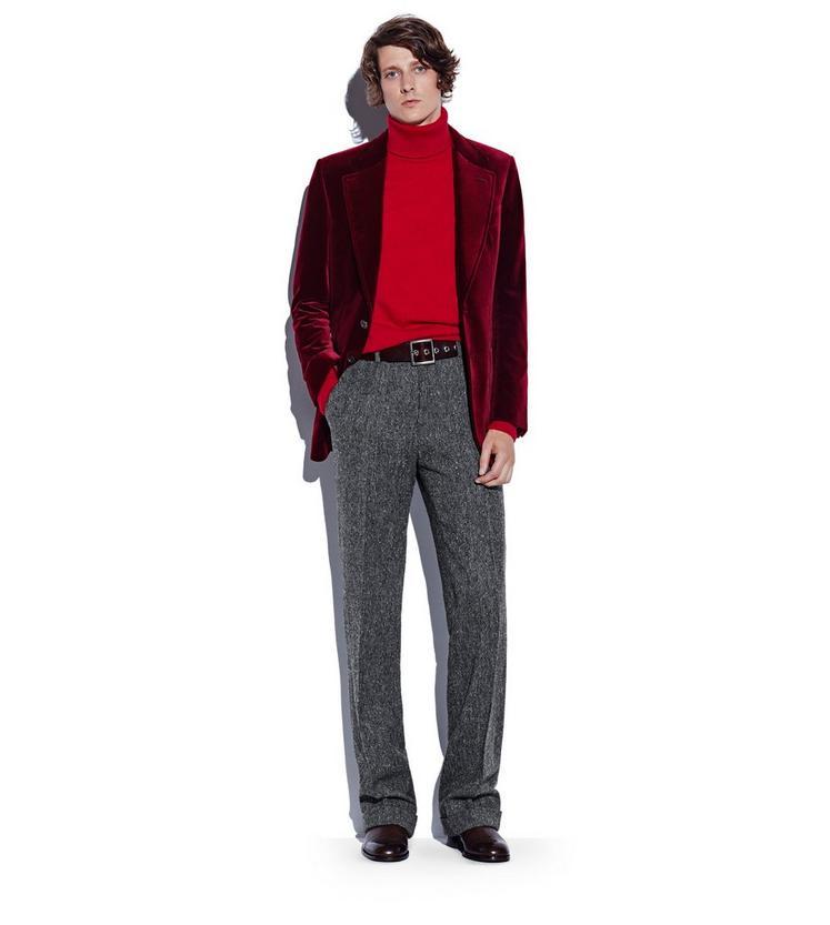CLASSIC CASHMERE RED TURTLENECK L fullsize