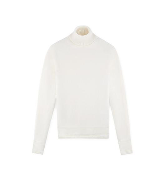 CLASSIC CASHMERE IVORY TURTLENECK